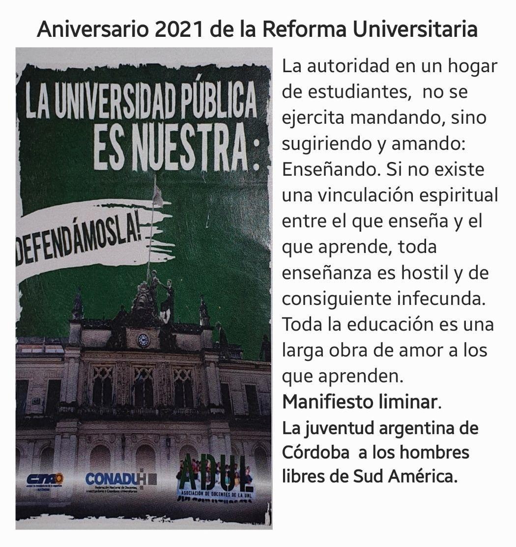 A 103 años de la Reforma Universitaria