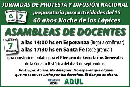 Jornadas de Protesta y Difusión Nacional