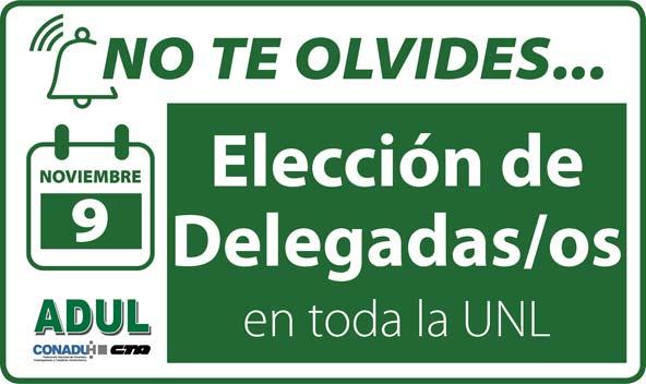 Elecciones de Cuerpo de Delegados en toda la UNL