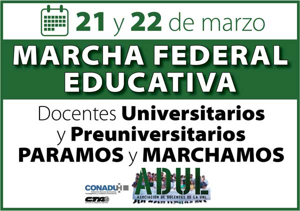 21 y 22/03 – Marcha Federal Educativa