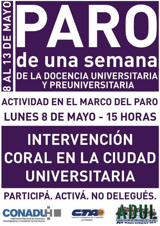 Intervención coral en la Ciudad Universitaria