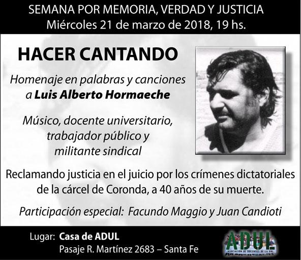 Semana por la memoria, la verdad y la justicia