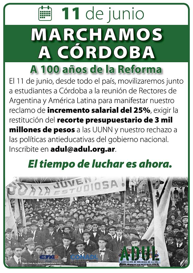 Movilización a Córdoba con estudiantes