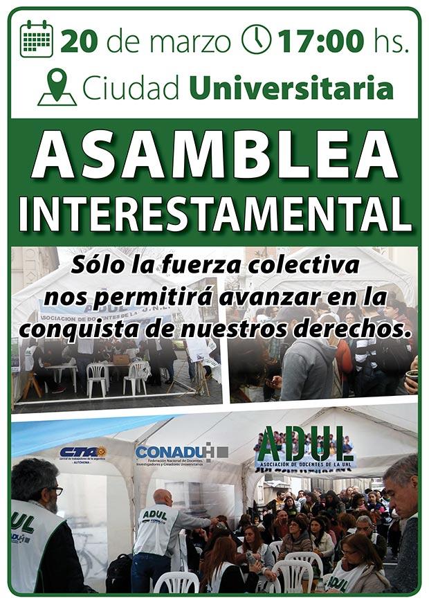 Asamblea Interestamental en la Ciudad Universitaria
