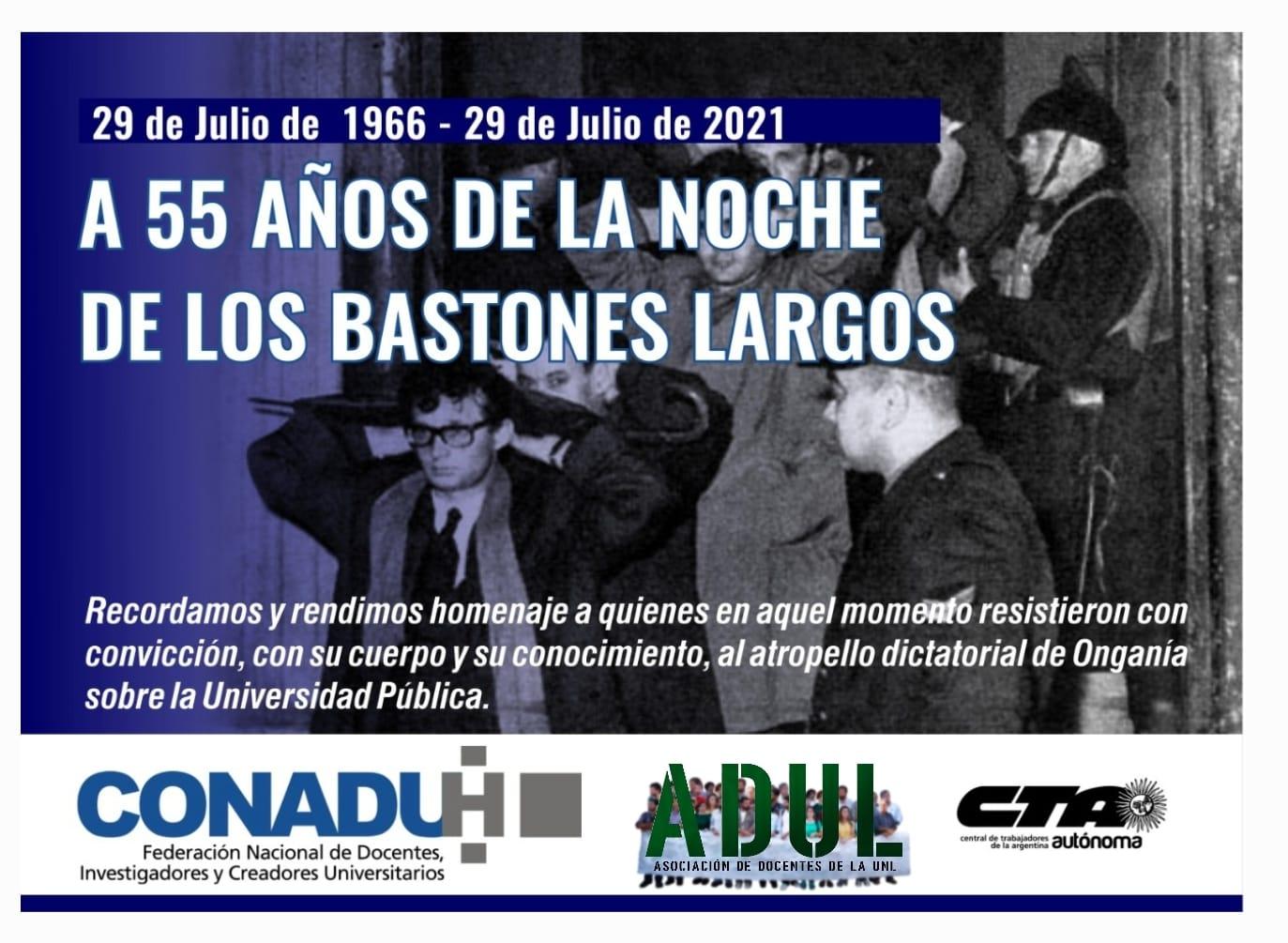 """55 años de la """"Noche de los bastones largos"""""""