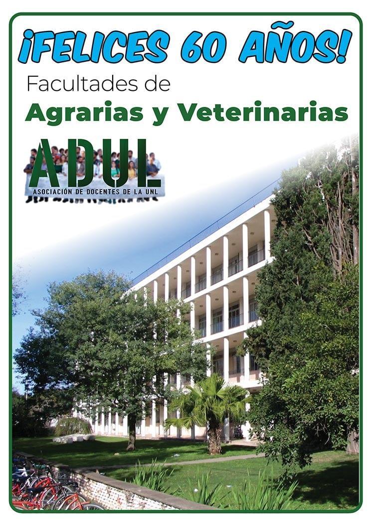 Saludamos a la comunidad educativa de las Facultades de Ciencias Veterinarias y Ciencias Agrarias en su 60° aniversario