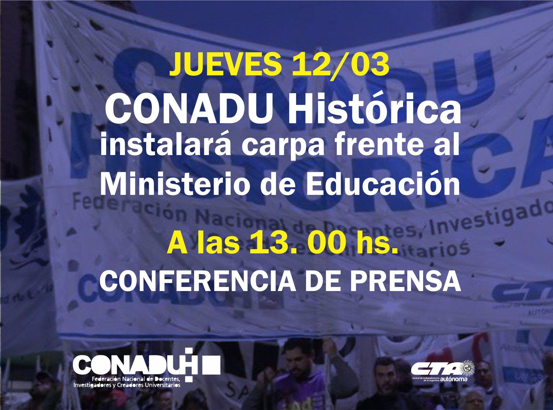 Plenario de Secretarías Generales de la CONADU HISTÓRICA – 12/3