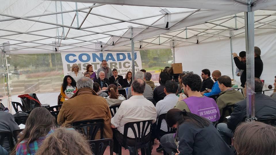 Conferencia de Prensa Conadu Histórica-Conadu