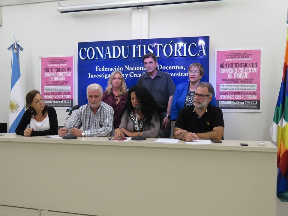 Comunicado de Prensa de CONADU Histórica