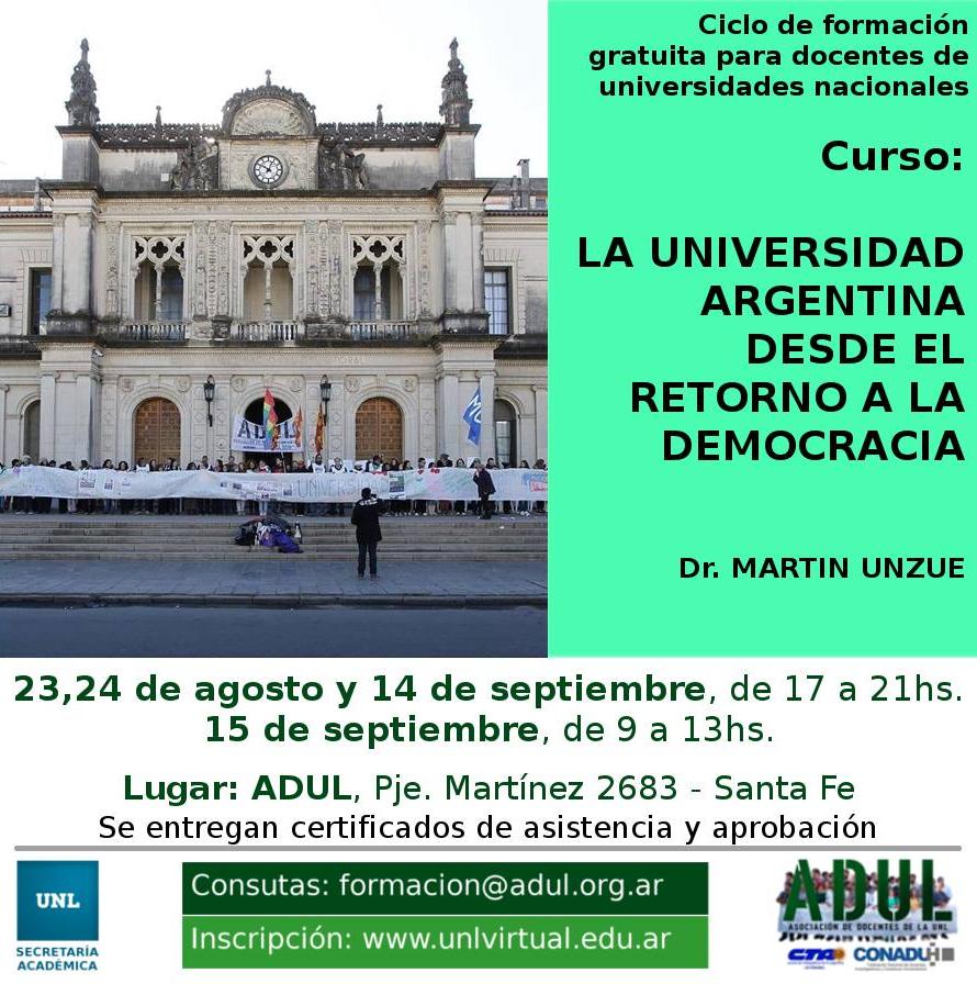 Ciclo de formación gratuita para docentes de universidades nacionales