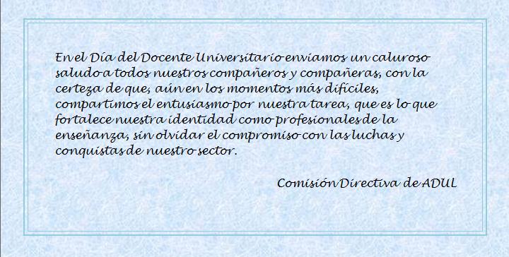 Día del Docente Universitario