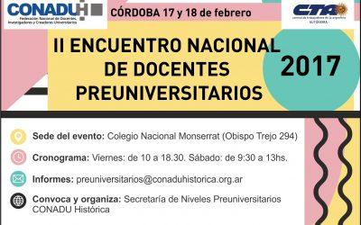 II Encuentro Nacional de Preuniversitarios