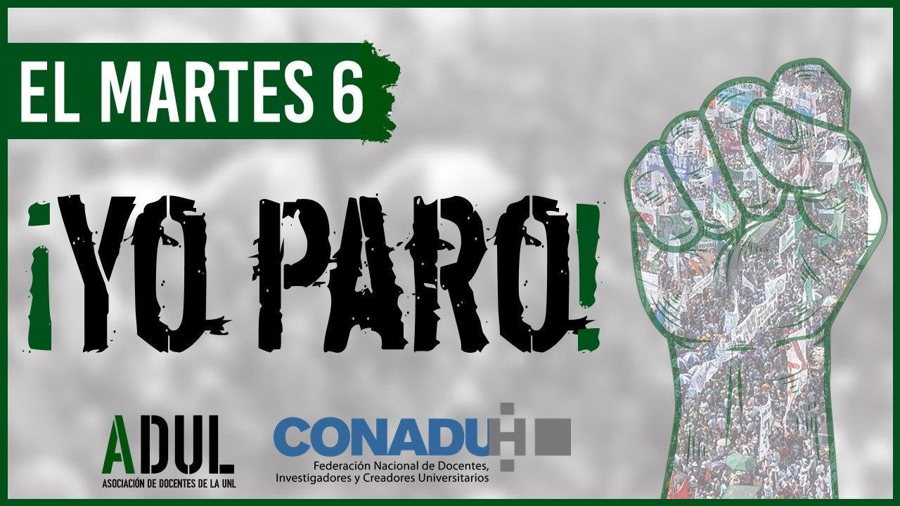 Martes 6/10: nuevo paro nacional de Conadu Histórica