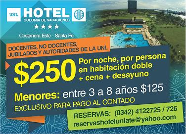 Promoción Hotel UNL-ATE