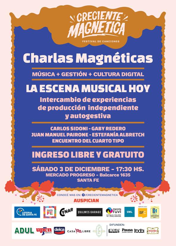 Charlas Magnéticas sobre música, gestión y cultura digital