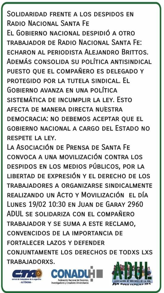 Movilización de lxs Trabajadorxs de Prensa