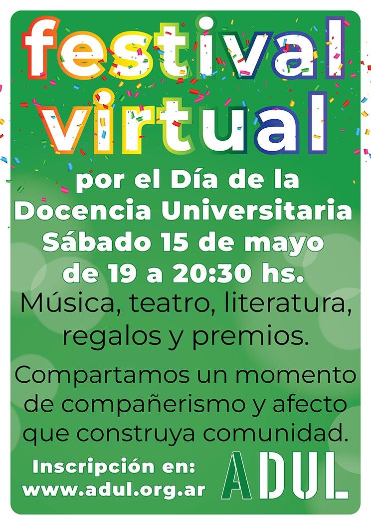 Festival virtual por el día de lxs docentes universitarixs – Inscribite acá