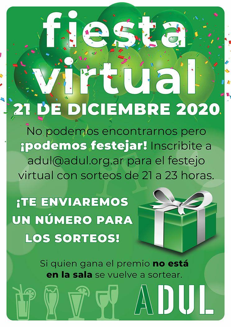Festejo virtual de fin de año: lunes 21 de diciembre a partir de las 21 horas