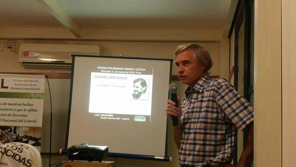 Homenaje a Luis Alberto Hormaeche en la casa de ADUL