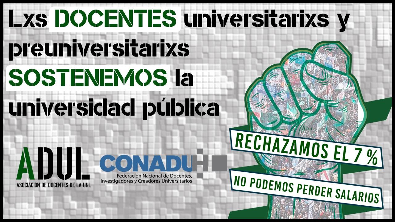 Instalación del paro de los días 27 y 28: rechazamos el 7 % que el Gobierno Nacional quiere imponer como techo salarial