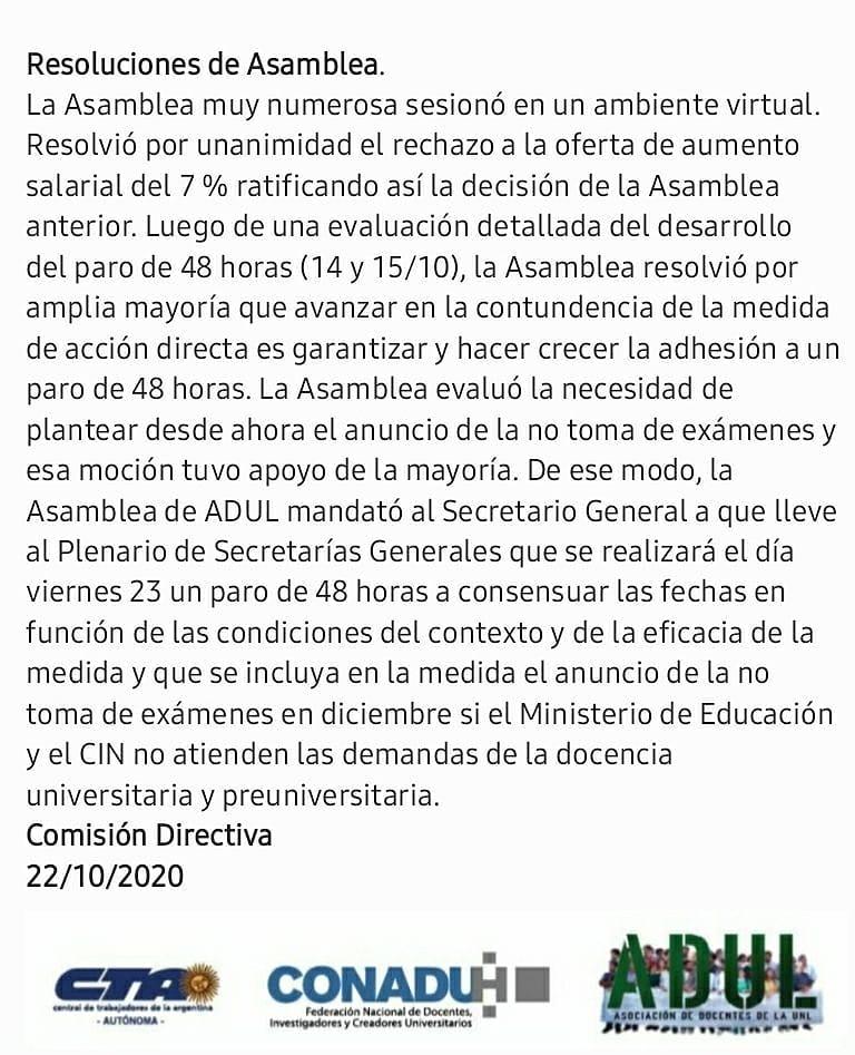 Resoluciones Asamblea 22/10