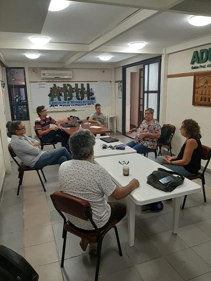 Reunión de docentes.